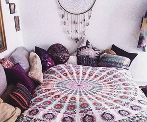 bedroom, dreamcatcher, and cosy image