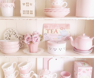 pink, pastel, and tea image