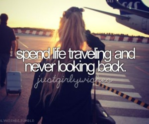 travel, airplane, and life image