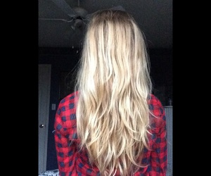 blonde, hair, and layers image