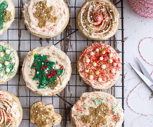 christmas, Cookies, and cupcake image
