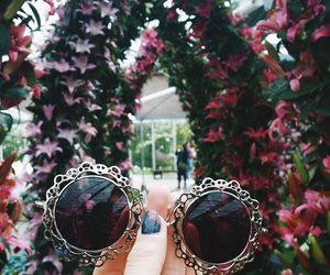 fashion, flowers, and glasses image