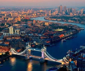 thames, the city, and tower bridge image