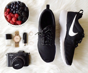 nike, watch, and camera image