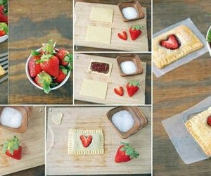 food, strawberry, and diy image