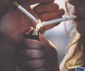cigarette, couples, and love image
