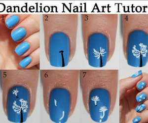 nails, tutorial, and dandelion image