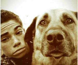 cameron boyce and dog image