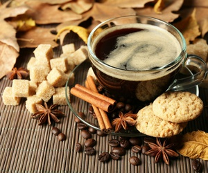 autumn, coffee, and sugar image