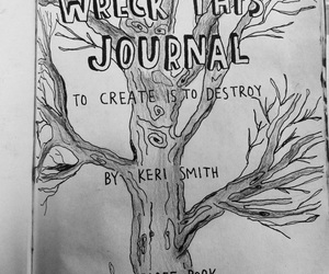 black and white, journal, and drawing image