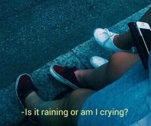 sad, rain, and grunge image