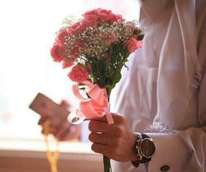 arab, boy, and roses image
