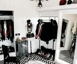 black and closet image
