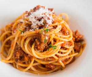 food, spaghetti, and pasta image