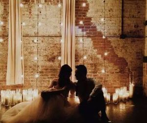 couple, light, and candles image