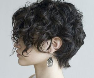 hair, hairstyle, and curl hair image