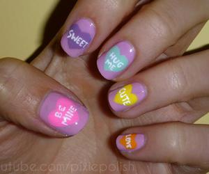 nails, heart, and sweet image