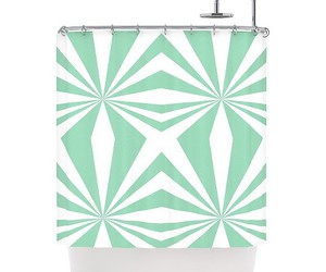 bathroom, curtain, and mint image
