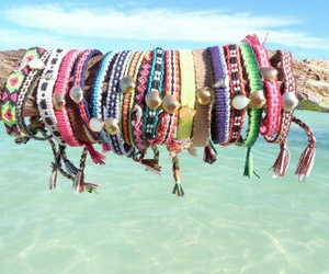 bracelet, beach, and summer image