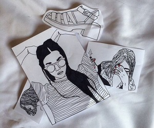 grunge, drawing, and art image