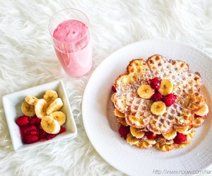 banana, berries, and fitness image
