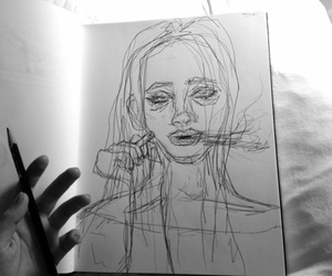 art, drawing, and pale image