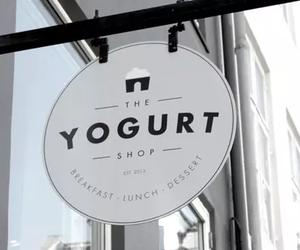 food, shop, and yogurt image