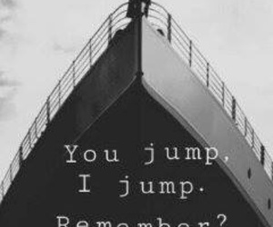 titanic, love, and jump image