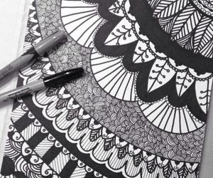 dibujo, draw, and mandalas image