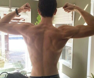 Hot, back muscles, and shawn mendes image