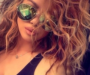 hair, beauty, and sunglasses image