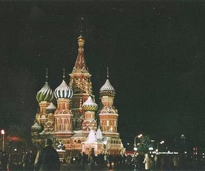 russia, moscow, and night image