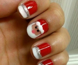 nails, christmas, and santa image