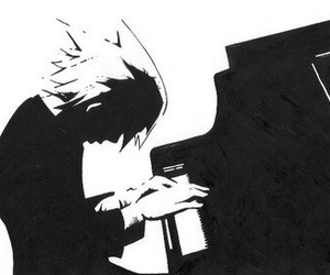 anime, soul eater, and piano image