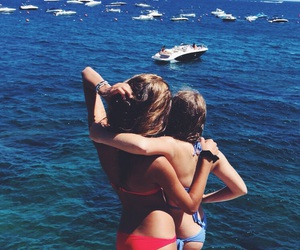 beach, bff, and boats image
