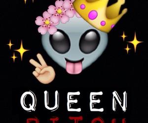 alien, Queen, and tongue image