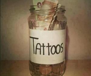 grunge, Tattoos, and money image