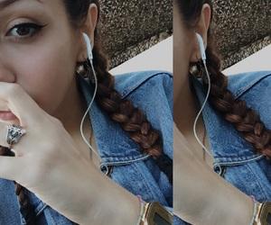braids, eyes, and girl image