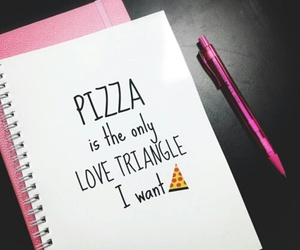 pizza, pink, and love image