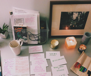 study, candle, and college image