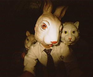 mask, bunny, and rabbit image