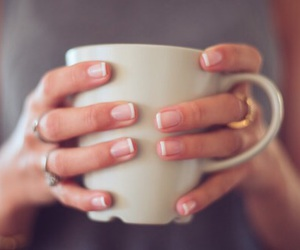 coffee, nails, and cup image