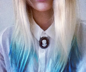 blonde, blue, and blue hair image