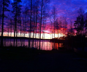 finland and sunset image