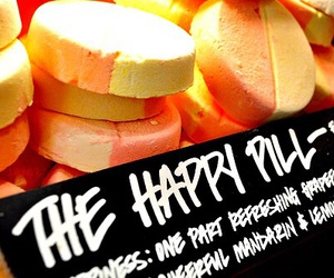 lush, happy, and pill image