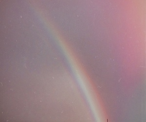 rainbow, grunge, and sky image