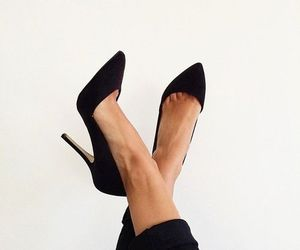 black, heels, and pointy image