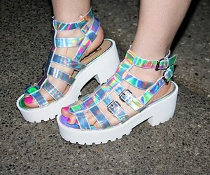 holographic, shoes, and grunge image