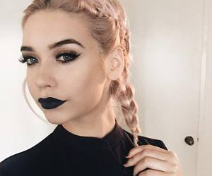 amanda steele, hair, and black image
