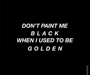 black, quotes, and golden image